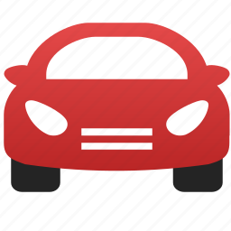 auto, automobile, car, red car, transport, transportation, vehicle icon