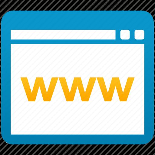 browser, internet, link, online, web, website, www icon