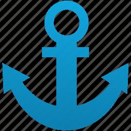 anchor, link, marine, port, sea, seaport, url icon