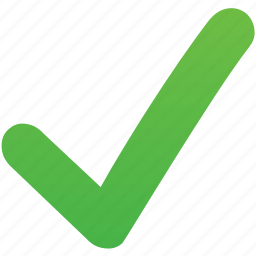 accept, check, ok, select, tick, validation mark, yes icon