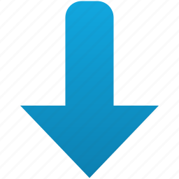 arrow, direction, down, download, move icon