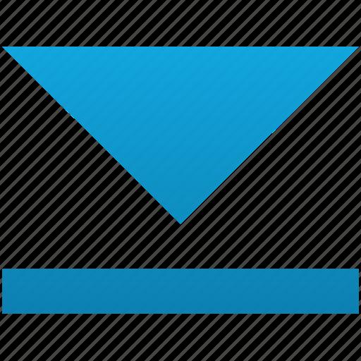 arrow, down, download, guardar, save, top icon