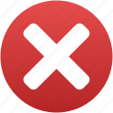 cancel, close, delete, exit, remove, terminate, x cross icon