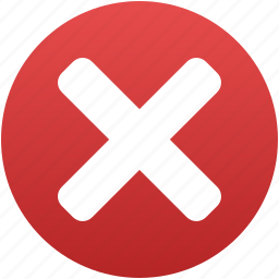 cancel, close, delete, exit, remove, terminate, x cross icon