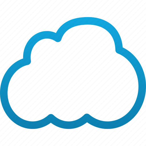 Cloud, weather, storage, hosting, server, web, database icon