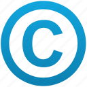 author, copy, copyright, first, publication, right icon