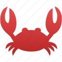 crab, lobster, marine, restaurant, sea food, seafood icon