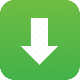 arrow, down, down button, download, downloads, load, save icon