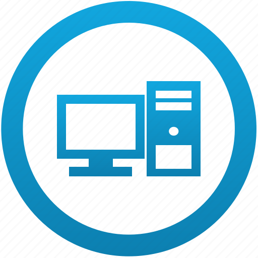 computer, desktop, monitor, pc, system, unit, workstation icon