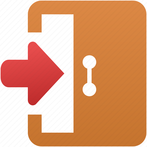 arrow, close, door, exit, login, open, user logout icon