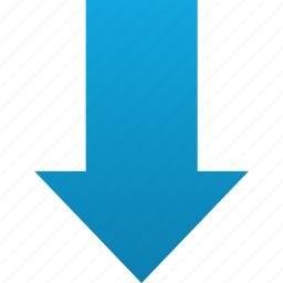 arrow, down, download, downloads, load, save icon