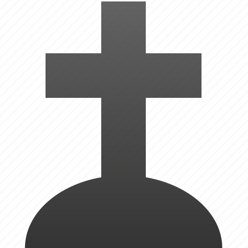 cemetery, cross, death, grave, graveyard, necropolis, stone icon
