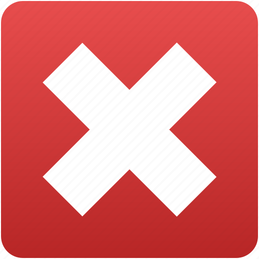 close, cross, exit, logout, remove, undo, x icon