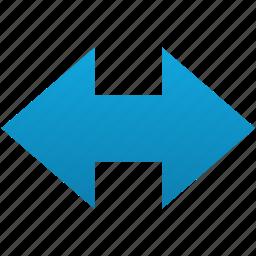 arrow, change, exchange, left right, left-right, reverse icon