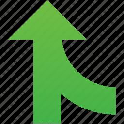 arrow, combine, direction, merge, union, unite, up icon