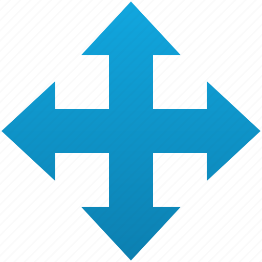 arrows, drag, enlarge, expand, move, pan, resize icon