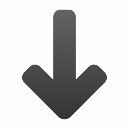 arrow, direction, down, download, move, move down, navigation icon