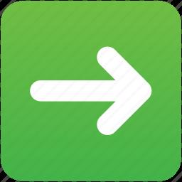 follow, following, forward, move, next, previous, right icon