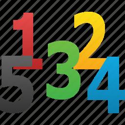 digital, digits, five, mathematics, number, numeral, numeric icon