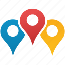 flag, gps, location, map markers, navigation, pin, pointer icon