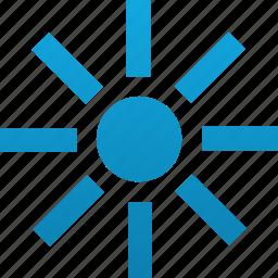 bright, brightness, forecast, light, power, sun, sunny icon