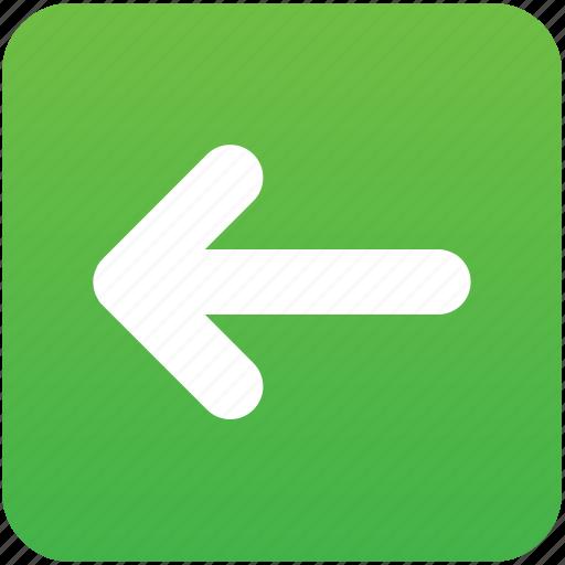 arrow, back, before, green, left, previous, undo icon