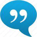 citation, cite, comment, message, quotation, quote, speech icon