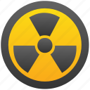 atom, bomb, danger, explosion, nuclear, radiation, radioactive icon