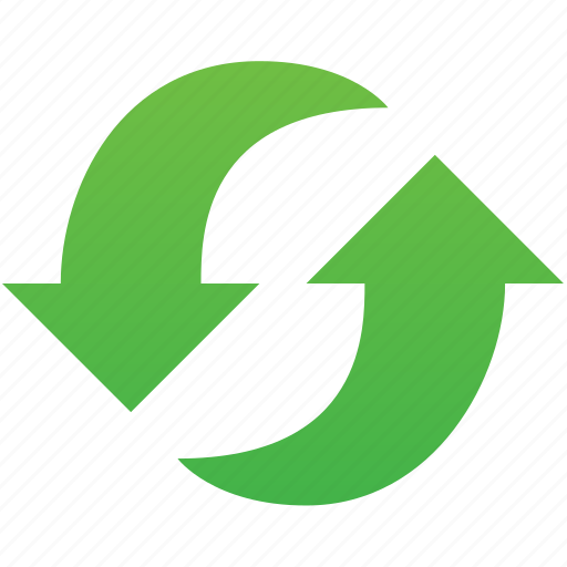 recycle, refresh, reload, renew, repeat, synchronize, update icon