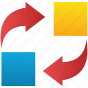 change, exchange, move, refresh, replace, replacement, switch icon