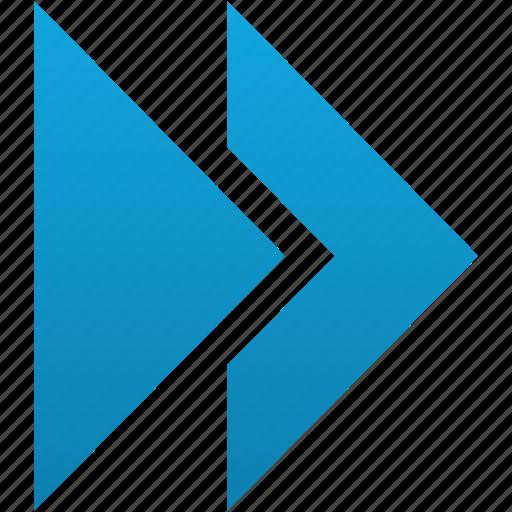 arrows, basic, fast, forward, media, next, right icon