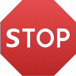danger, road signs, safety, security, signal, stop sign icon