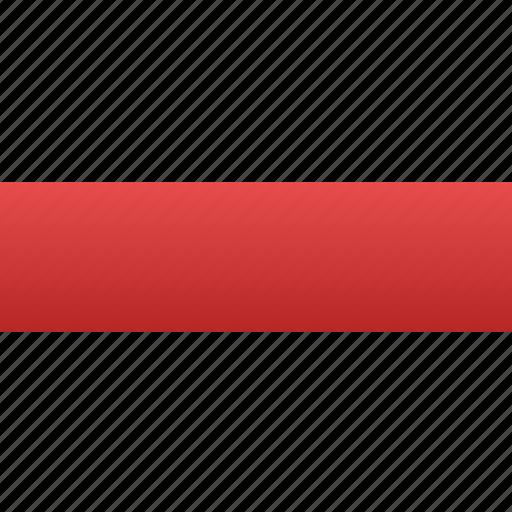 delete, minus, negative, red minus, remove, sign, subtract icon