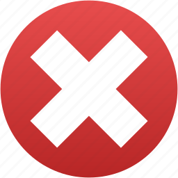 cancel, close, cross, delete, exit, remove, terminate icon