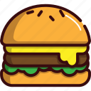 burger, fast, fast food, food, hamburger, street food icon