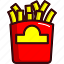 fast, food, french fries, fried, mcd, street food icon