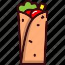 bistro, fast, fast food, food, kebab icon