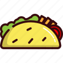 fast, food, mexican, sandwich, street food, taco icon