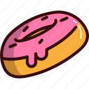bread, cream, donut, fast, food, sweets icon