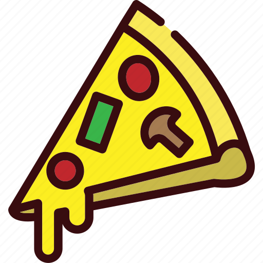 cheese, delivery, fast food, italian, junk food, pizza icon