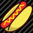 fast, fast food, food, hot dog, junk food, sausage icon