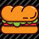 fast, fast food, food, junk food, restaurant, sandwich icon