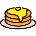 breakfast, cheese, fast, food, pancake, restaurant icon
