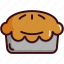 apple pie, cake, dinner, fast, food, sweets icon