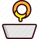 fast, fast food, food, fried, onion ring, snack icon