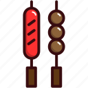 barbecue, barbeque, grill, grilled, sasauge, sate icon