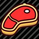 food, meat, restaurant, steak icon
