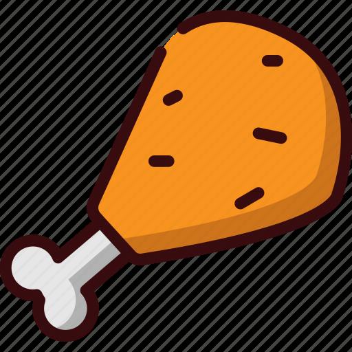 chicken, fast food, fried chicken, junk food, restaurant, thigh icon