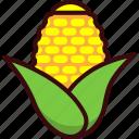 com, conr, fast, food, snack, vegetable icon