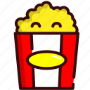 fast, food, movie, movies, popcorn, popcorns, snack icon